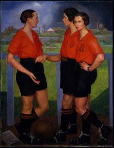 Las futbolistas. Zárraga