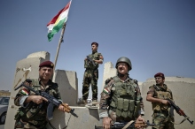 Peshmerga Fighters Provide Security